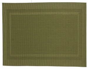 Placemat 45x30 cm pvc/pet green anice big rectangl