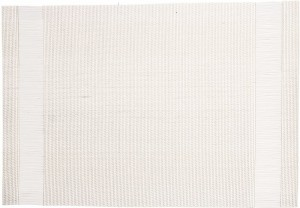 Placemat 45x30 cm pvc/pet white with 2 side-stripe