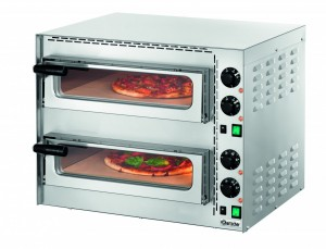 Piec do pizzy Bartscher Mini Plus 2 - dwukomorowy