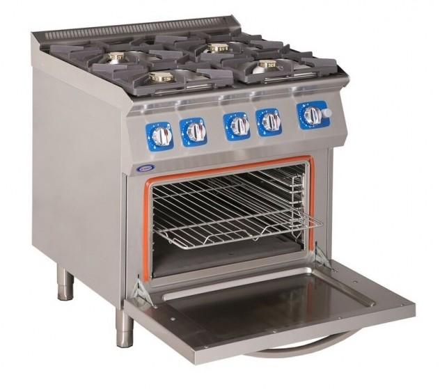Kuchnia gazowa  4 palniki i piekarnik elektryczny  Benler -> Kuchnia Gazowa Z Piekarnikiem