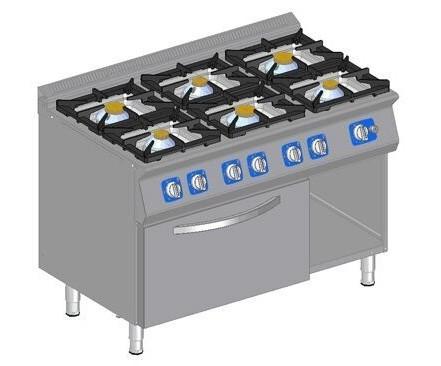 Kuchnia gazowa z 6 palnikami i piekarnikiem gazowym GORT  Benler -> Kuchnia Gazowa Amica Z Piekarnikiem Gazowym
